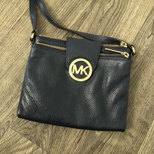 Blue Michael Kors crossbody bag
